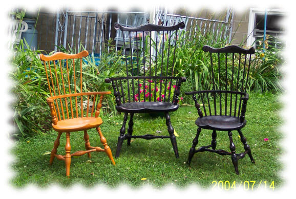 windsor comb back child chairs